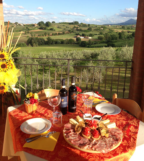 "MENU WITH A ""VIEW"" AND TUSCAN CHARM"